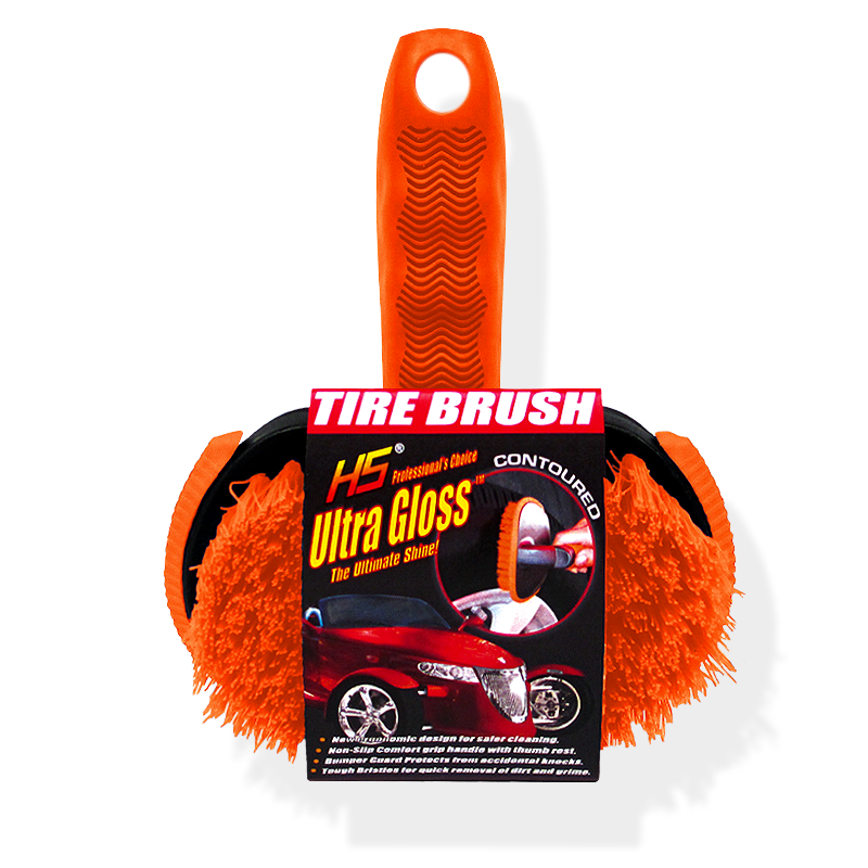 Contoured tire brush Ultra Gloss