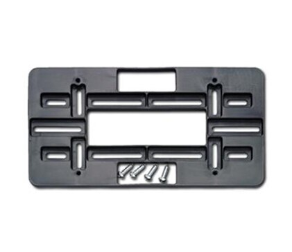 License frames mounting plates black Hs