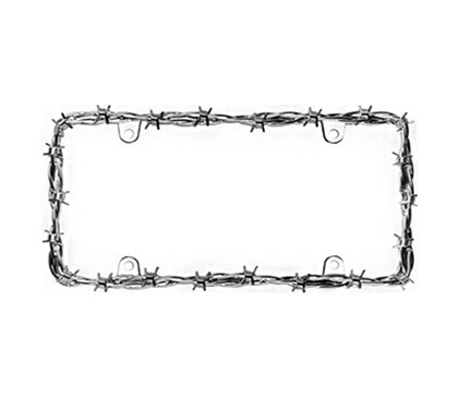 License Frames Chrome Barbed Wire II Hs