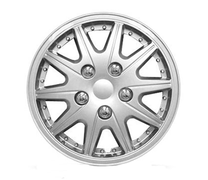 "Wheel Covers Silver Lacquer 14"" Hs"