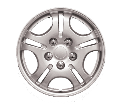 "Wheel Covers Silver Lacquer 14"", Hs"