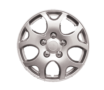 "Wheel Covers Silver Lacquer 14"". Hs"