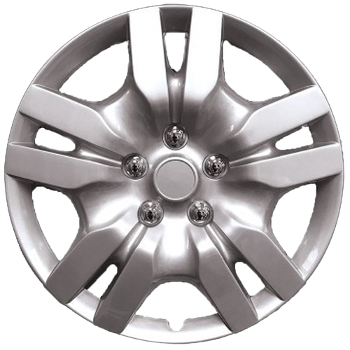 "Wheel Covers Silver Lacquer, 16""Hs"