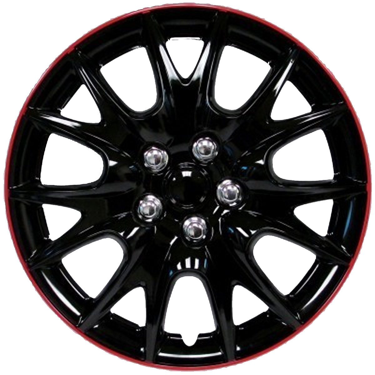 Wheel Covers Black / Red Lip Hs