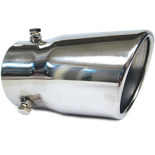 Stainless steel exhaust tip, round rolled model Hs