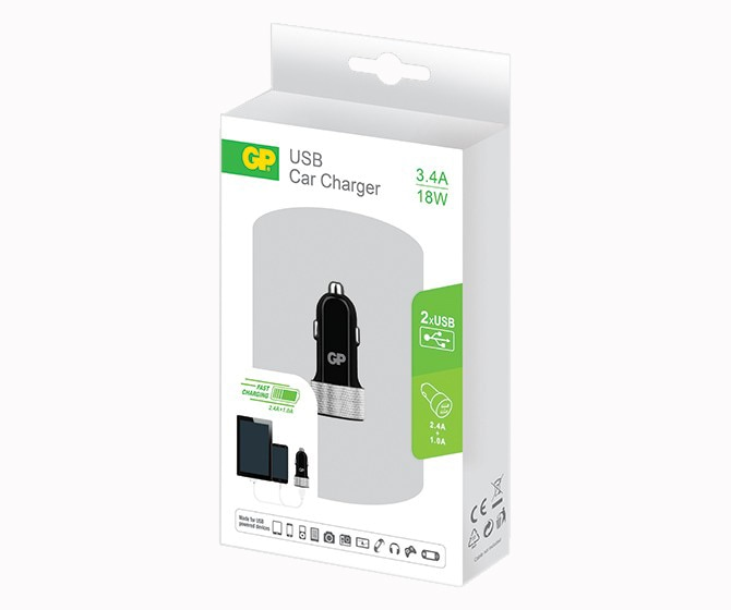 Car Charger Dual USB 3.4A GP