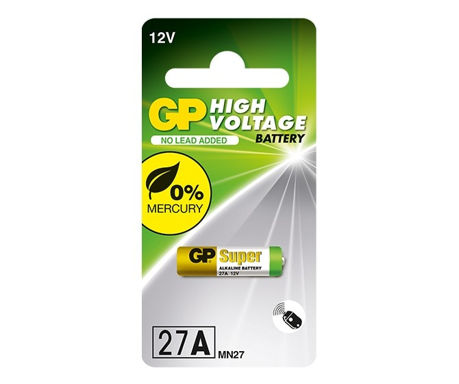 Battery High Voltage (Mercury Free) 12V 27AF in Strip GP