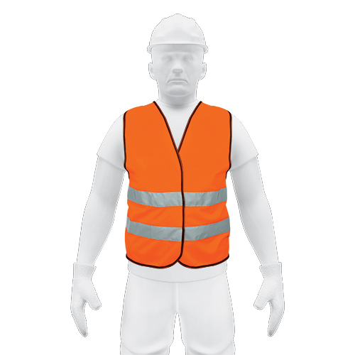 Class 2 Orange Safety Vest Truper