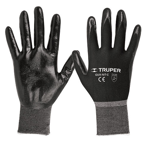 Nitrile Coated Nylon Gloves, Knitted Cuff Truper
