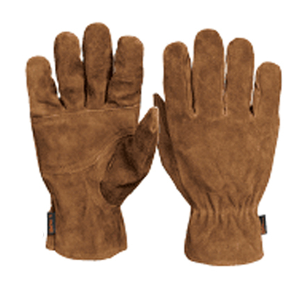 Electrician's Leather Gloves, Elastic Wrist Truper
