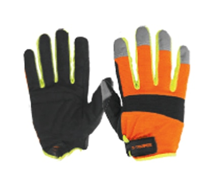 High Visibility Mechanics Gloves, Cuff Strap Truper
