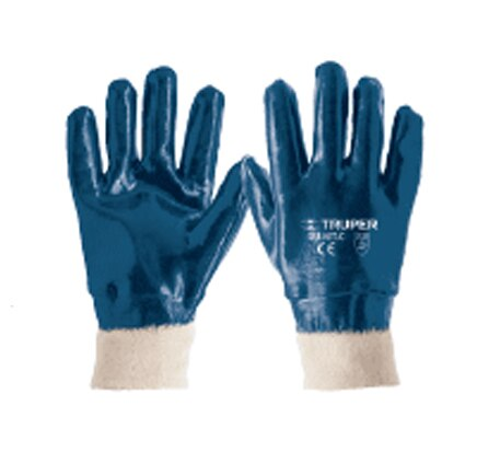 Nitrile Coated Cotton Gloves, Knitted Cuff Truper