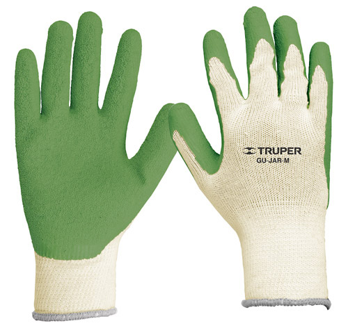Latex Coated Polyester Gloves, Knitted Cuff Truper