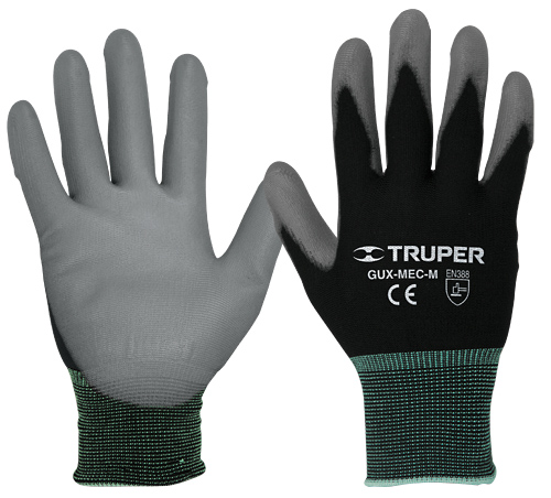 Polyurethane Coated Nylon Gloves, Knitted Cuff Truper