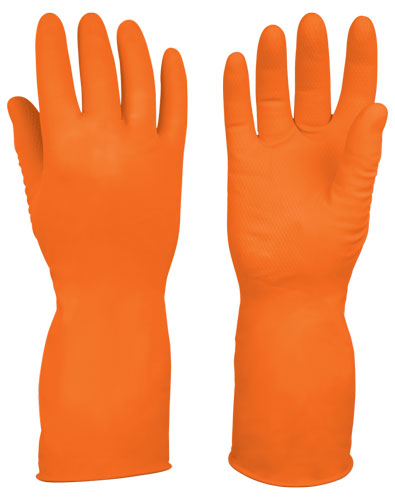 Latex Gloves, Long Cuff, Non-slip Truper
