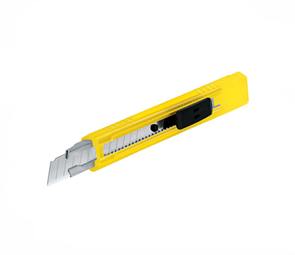 Plastic Snap-Off Knife Steel Blade Track 9 Mm Pretul