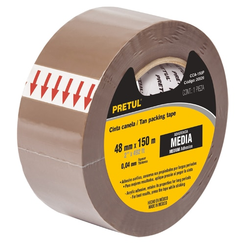 Packaging tapes 2-inch tan, Pretul