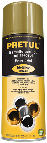 Spray paints metallic 11-ounce Pretul