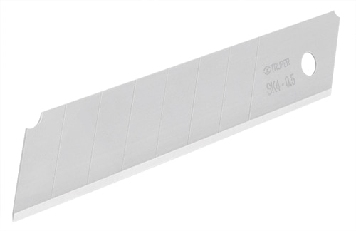 Blades Pc- 10 Heavy Duty Snap-Off Knife, w/ Grip and Steel Blade Track Truper
