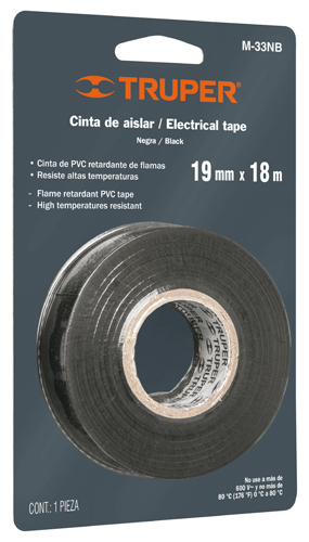 "Electrical Tape, in Blister 3/4"" By 60 ft M-33NB Truper"