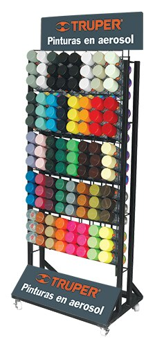 120-Spray Paint Floor Display Rack R-PINT-120 Truper