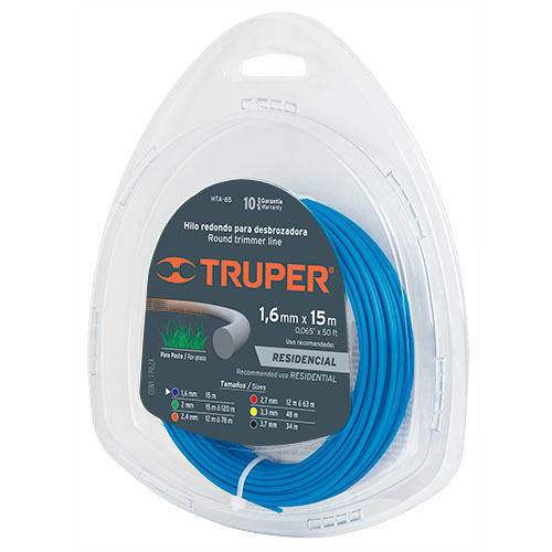 "Cross Section String Trimmers Lines 1/16""  Truper"