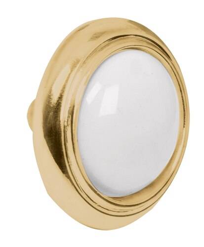 Cabinet Knobs w/ Insert Polished Brass Hermex