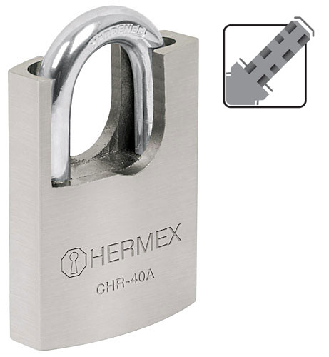 Shrouded Iron Padlocks, Disc-Lock Key Hermex