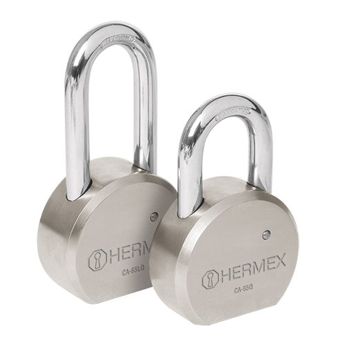 Solid Steel Round Padlocks, Dimple Key Hermex