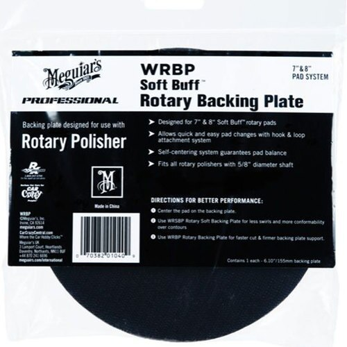 "Soft Buff Rotary Backing Plates 7"" or 8"" Meguiars"