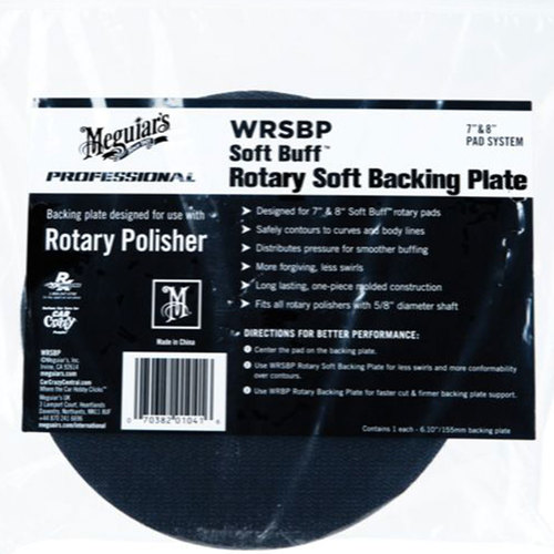 "Soft Buff Rotary Backing Plates 7"" or 8"" Meguiars."