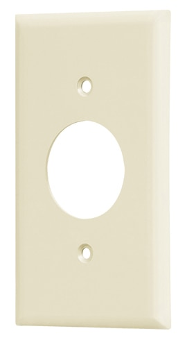 "Single 1 1/2"" Hole Receptacle Bakelite Wallplate Voltech"