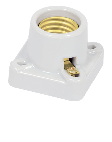 Square Porcelain Lamp Holder Voltech