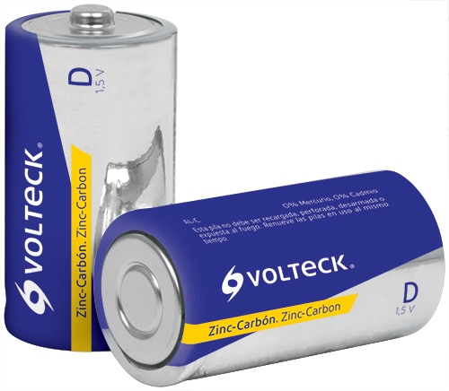 Carbon-Zinc Batteries D 2-Pack Voltech