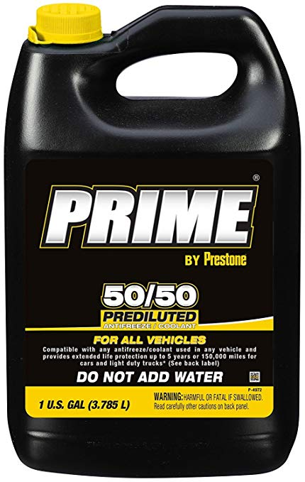 Antifreeze -Coolant 50/50 Prediluted 1 Gallon Prestone