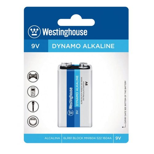 Battery Dynamo Alkaline 9V 1Pack Westinghouse