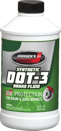 Brake Fluid DOT 3 Synthetic 12 Oz. Johnsen's