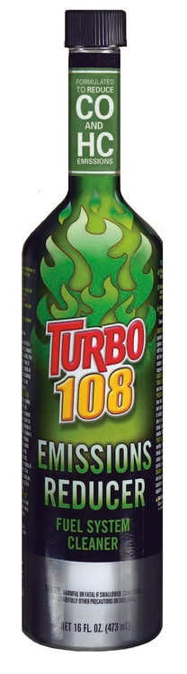 Fuel System Cleaner Emissions Reducers 16 oz. Turbo 108