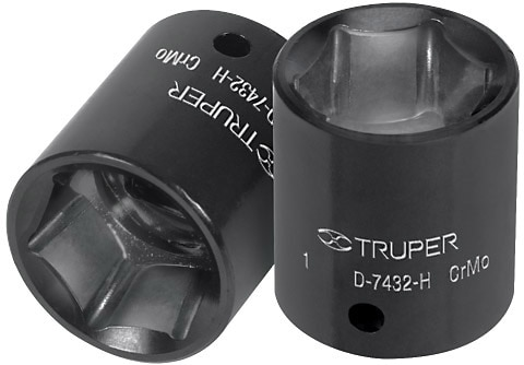 "6-Point Deep Impact Sockets 1/2"", Standard "" Truper"