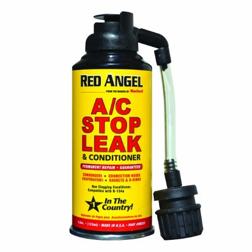 Additive A/C Vent Stop Leak Aerosol Can 4.5 Oz Red Angel