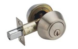 Satin Nickel Double Cylinder Deadbolt Fermetal