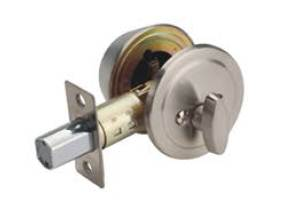 Satin Nickel Single Cylinder Deadbolt Fermetal